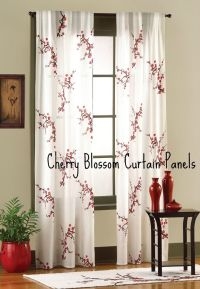 Cherry Blossom Curtain Panels | Bedroom Decorating ...