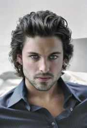 long curly hairstyles men mens