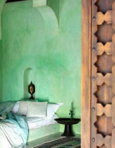 Wall color is silver marlin from house of turquoise renae keller interior design resort na indonesia green arabic bedroom style pretty bett also pin by myrna de jesus rivera on let   go to bed pinterest rh