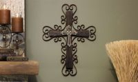 decorative wooden crosses | Metal Painted Wooden Wall ...