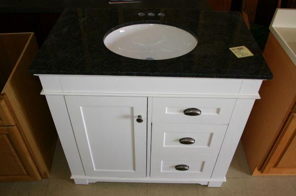 Single Vanity Cabinet White Shaker