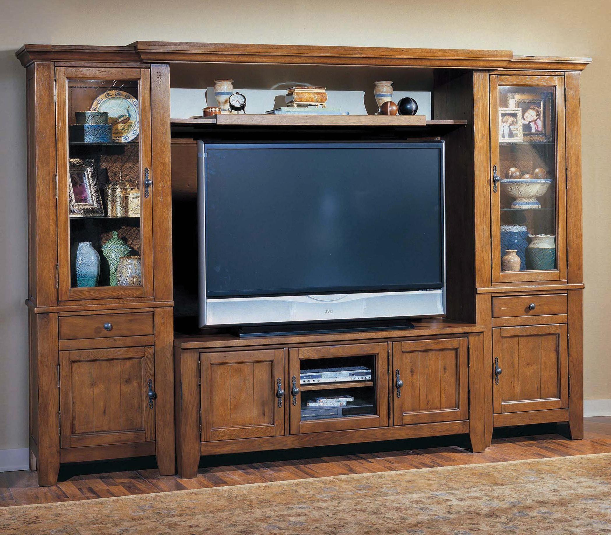 broyhill sofa nebraska furniture mart american leather full sleeper attic heirlooms entertainment wall by