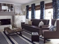 Cottage style living room, slightly masculine, gray, white ...