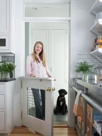 7 Creative Ways to Update Interior Doors | Pet door, Mud ...
