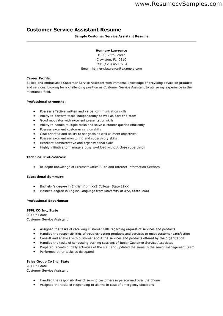 Resume Skills Examples Customer Service Resume Pinterest