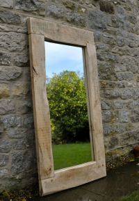 LARGE MIRROR HANDMADE OAK FRAME - traditional, rustic ...