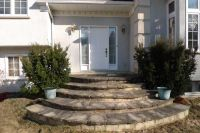 Curved Front Porch Stairs in Stone | House & Home ...