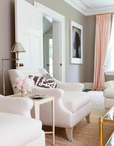 Room also pink gold  gray living with white linen sofa curtains rh pinterest