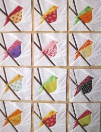 Cute idea for a bird quilt or wall hanging. | Quilting ...