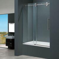 Vigo 60-inch Clear Glass Frameless Tub Sliding Door | Home ...