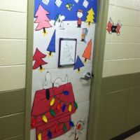 Charlie Brown Christmas theme door I made at school. | My ...