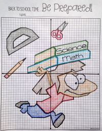 Back to School Plotting Points - Mystery Picture | Math ...
