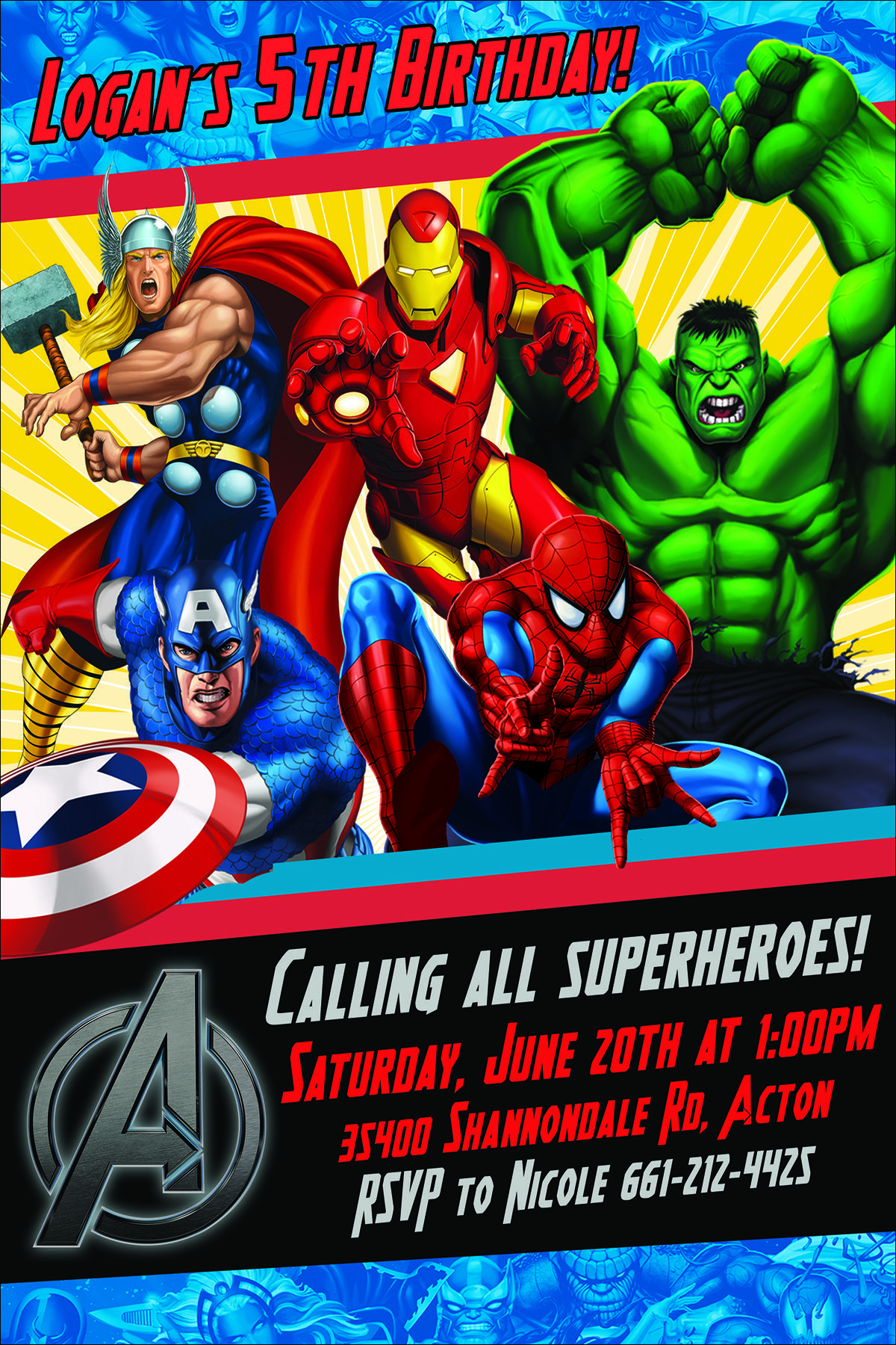 Avengers Birthday Invite Etsy Visit To Grab An Amazing