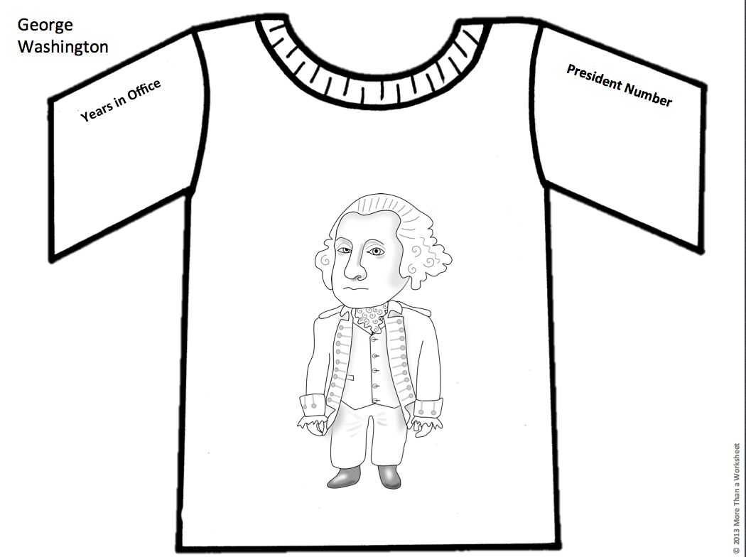 Have Students Research A President Then Design A T Shirt
