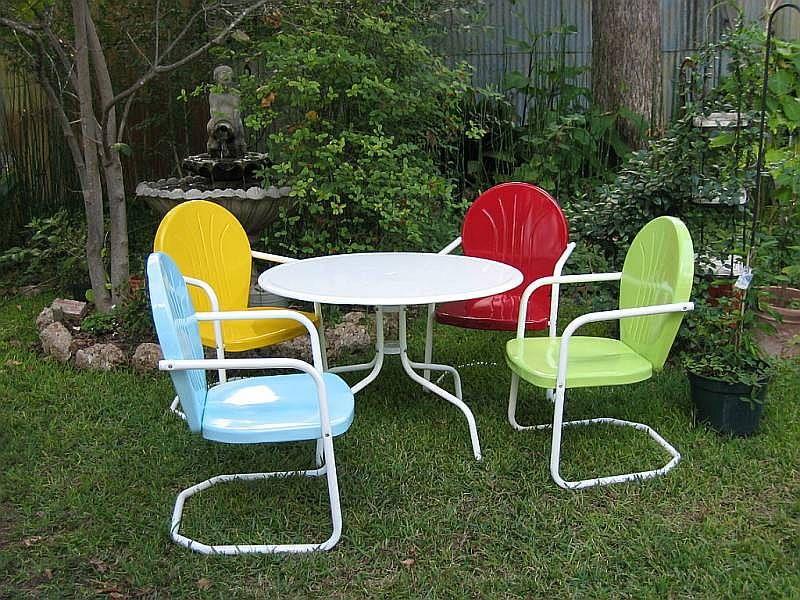 early spring outdoor chores yard furnituremetal