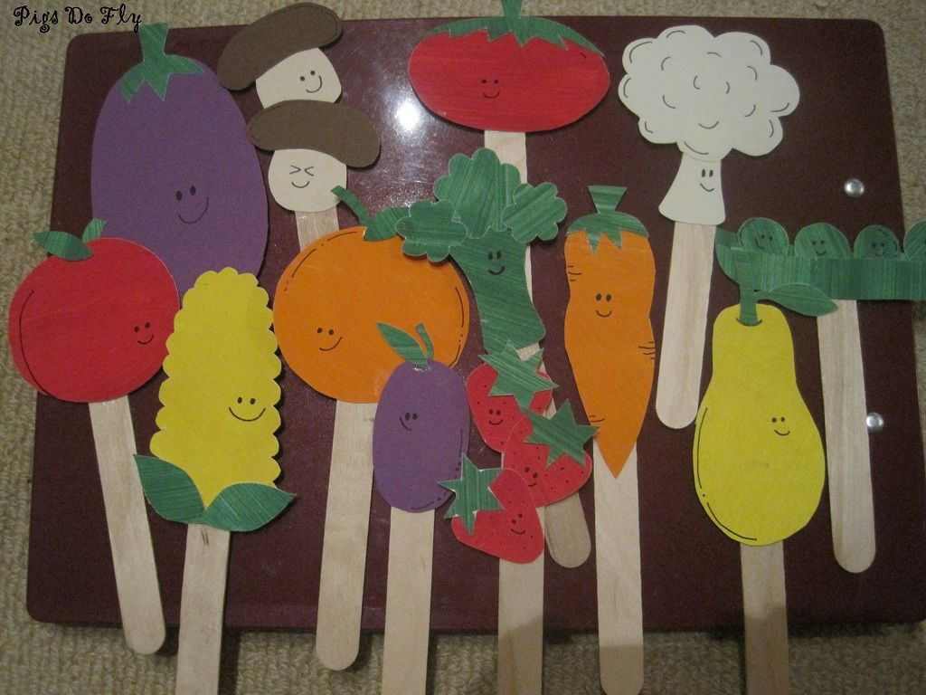 Cute Vegetable Craft Puppets Letter V Go With Lois