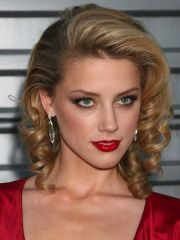 side loose retro curls