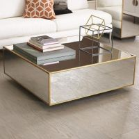 Floating Mirrored and Gold Coffee Table | Beautiful Homes ...