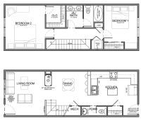 apartment unit plans | residential units are 20 wide or ...