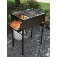 Kitchener Triple Basket Deep Fryer Kitchen Sink Cabinet Size Propane