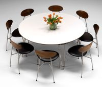 Delightful large round modern dining tables | dining table ...