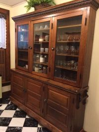 ANTIQUE EARLY 1900s PINE GENERAL STORE CABINET/ BUTLER'S ...