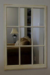 "9 Pane Antique Window Frame Mirror 41""x28"" | Antique ..."