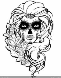 Sugar Skull | Sugar Skulls + Day of the Dead Coloring ...