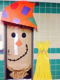 Halloween/Fall scarecrow door | Teaching: Halloween ...