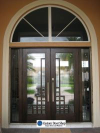 Unique and modern front doors with art deco design. Custom ...