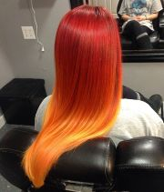 wella magma red fire ombr hair