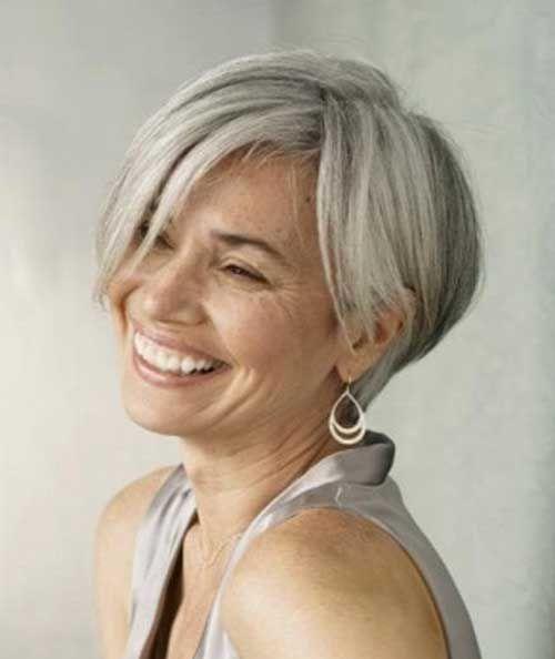 Kurze Frisuren Für Graue Haare Kurze Haare Pinterest