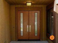 After: Modern 30 inch Fiberglass Double Entry Doors with 5 ...