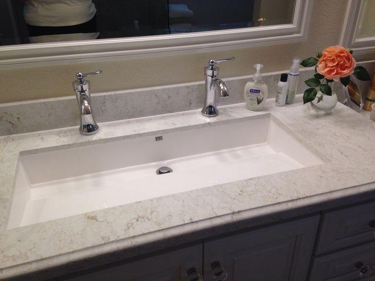 Master bathroom  Wymara 2 trough sink by mti installed