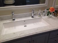 Master bathroom - 'Wymara 2' trough sink by mti, installed ...
