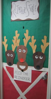 """Don't Feed The Reindeer"" Door"