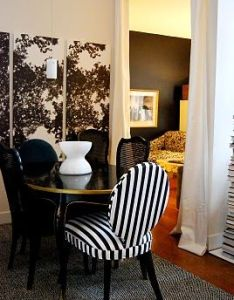 Dining room turned guest bedroom lounge nicole lanteri interior decorator also rh pinterest