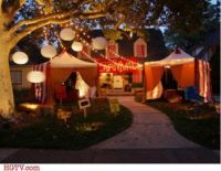 Creepy Carnival Tents for an Outdoor Halloween Theme ...