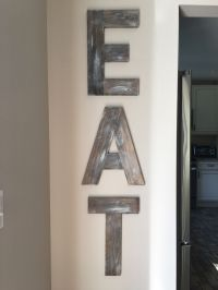 EAT Sign - wooden letters - wood decor - rustic decor ...