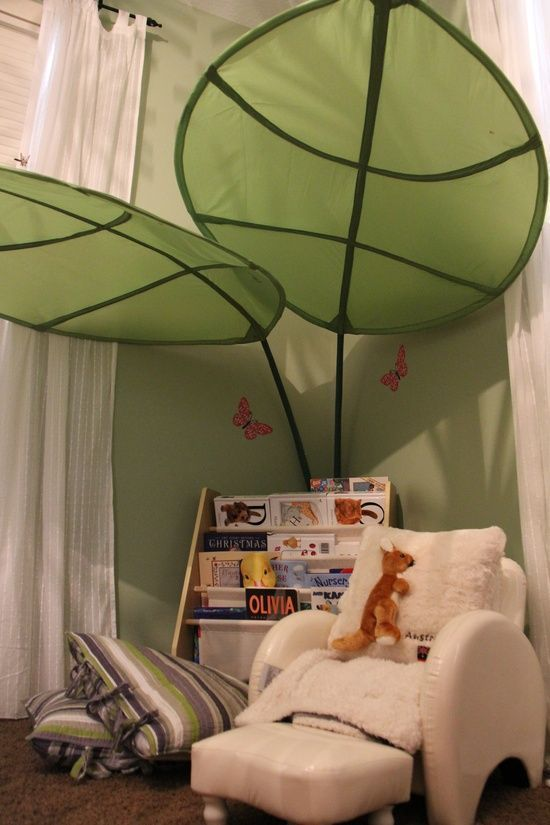 IKEA Lova Bed Canopy Green Leaf Kids Room Bedroom  Bed