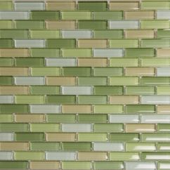 Green Kitchen Backsplash Cupboard Decoration Coloured Subway Tile For Backsplashes