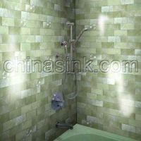 green onyx subway tile bathroom | Home Randoms | Pinterest ...