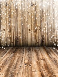 Vintage Snow Falling Wood Wall Photography Backdrops ...