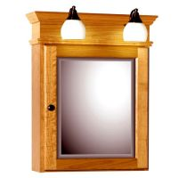 oak medicine cabinet with lights  Roselawnlutheran