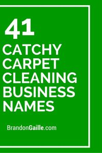 43 Catchy Carpet Cleaning Business Names | Carpet cleaning ...