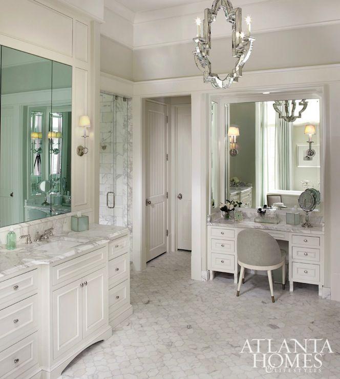 Built in Bathroom Vanities MAKEUP