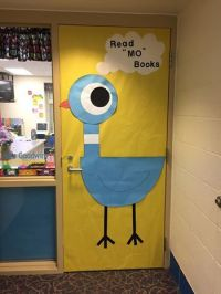 Mo Willems door decoration I created for Literacy Night ...