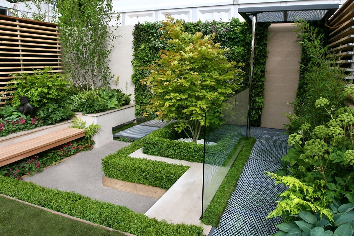 Remarkable Glamour Modern Small Garden Design With Raised Beds
