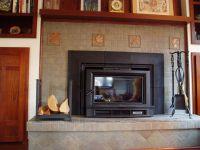 Pretty custom tile fireplace | Fireplace ideas | Pinterest ...