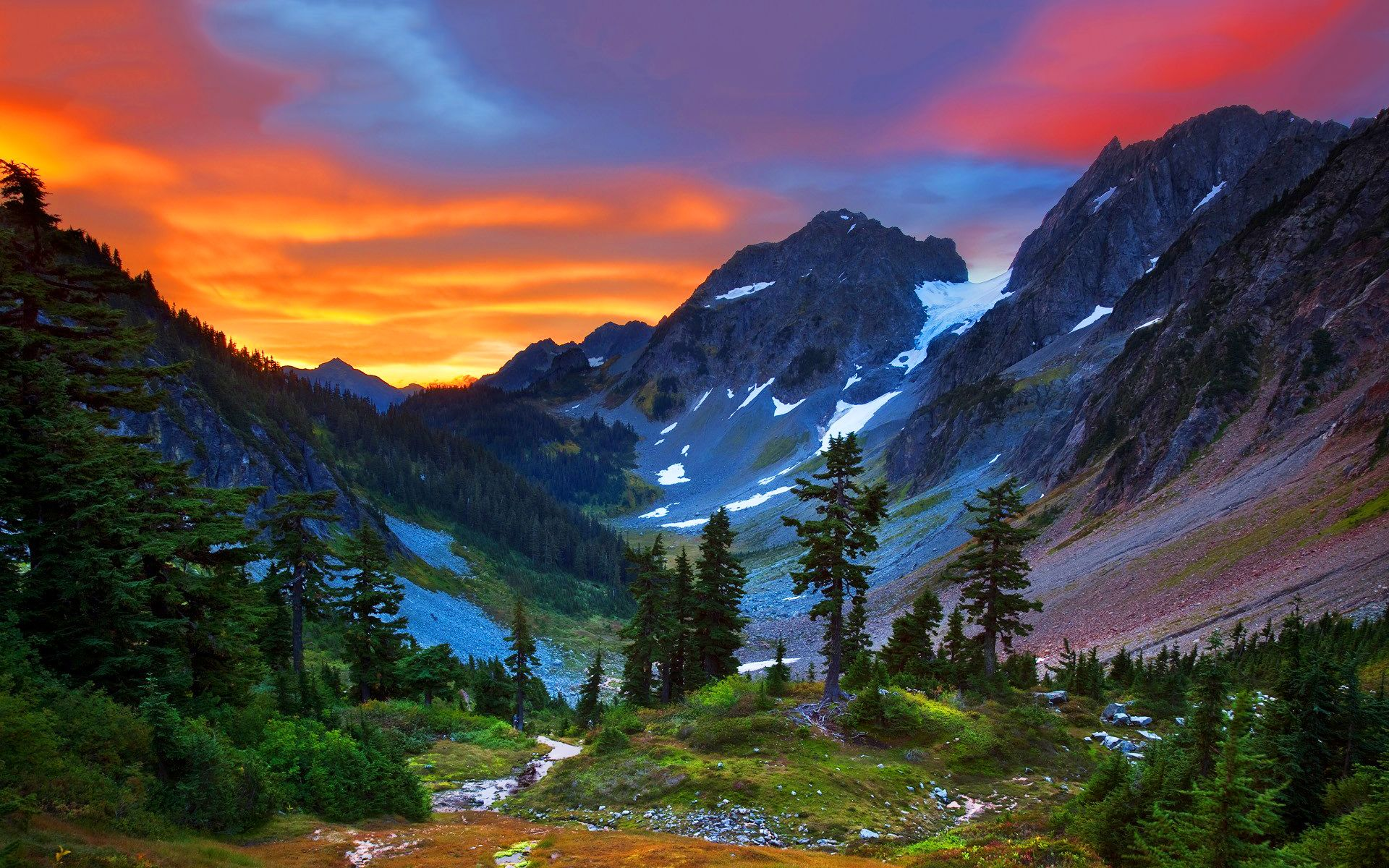 Desktop Wallpapers Hd  Art  Pinterest  Mountain Sunset